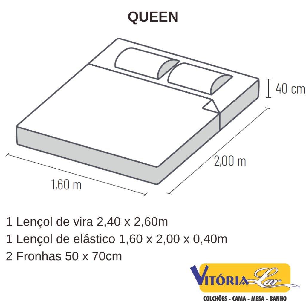 Jogo de Lençol Satinée Queen Liso Percal 300 Kacyumara
