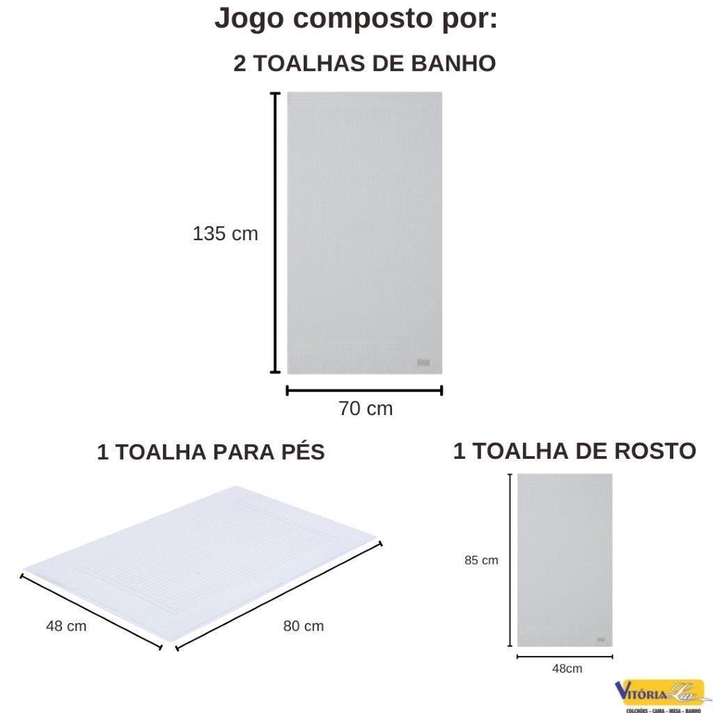 Jogo de Toalhas 100% Algodão Super Macio Lollipop 4 peças Banho Rosto E Piso Buddemeyer