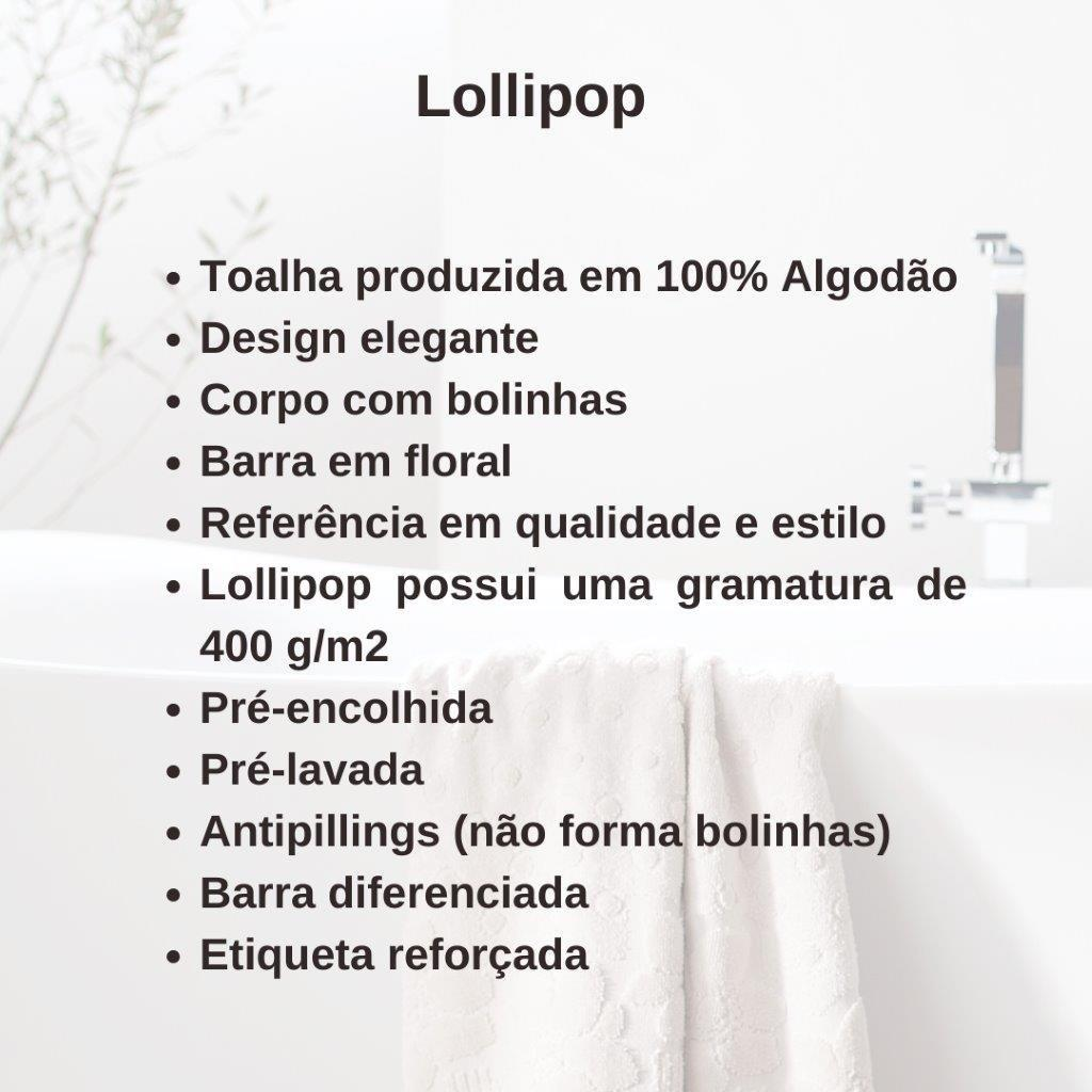 Jogo de Toalhas 2 Peças Banho E Rosto Lollipop Buddemeyer Aveludada Desenho Floral