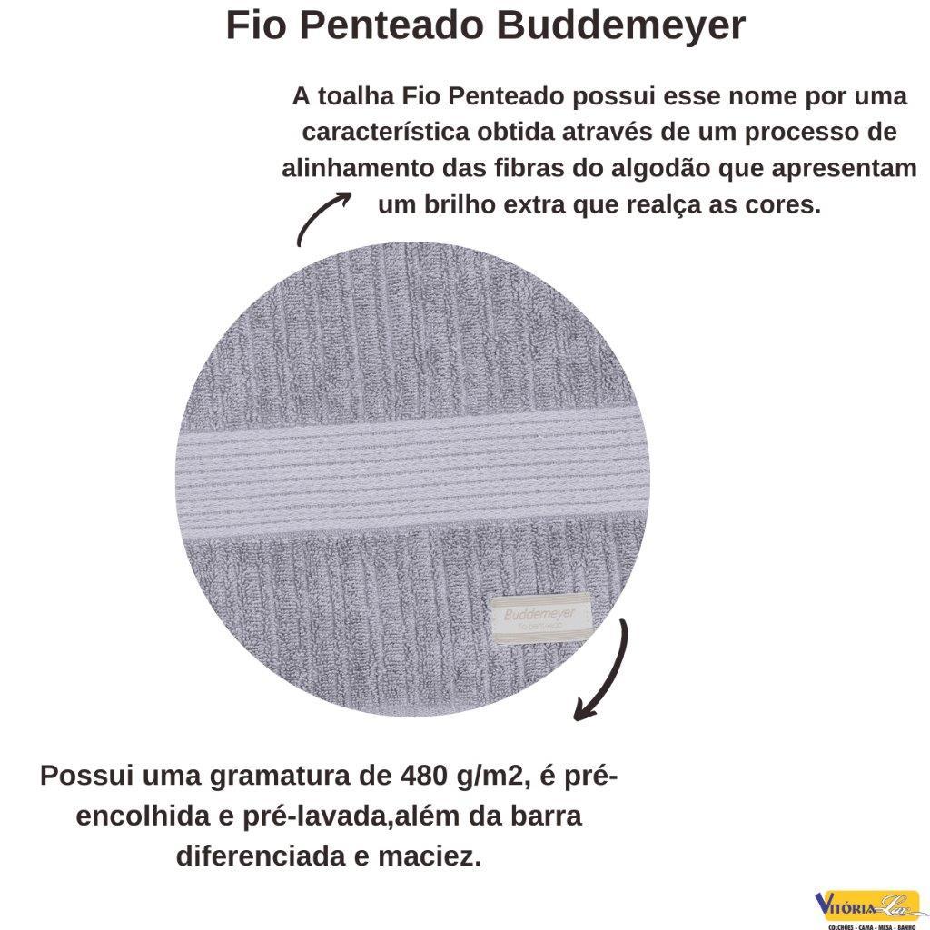 Jogo de Toalhas 2 Peças Fio Penteado Canelado Banho Buddemeyer Super Oferta