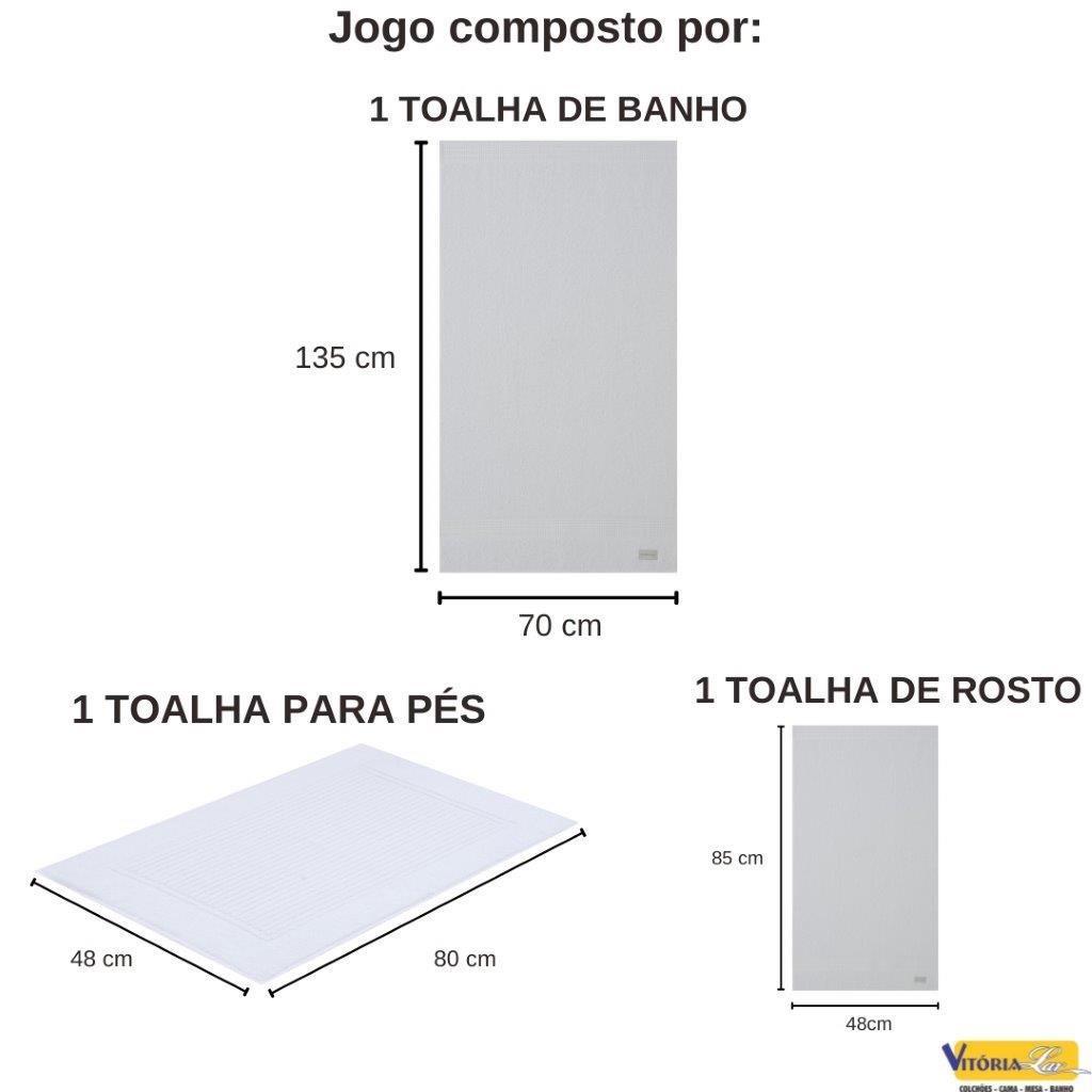 Jogo de Toalhas 3 peças 100% Algodão Lollipop Banho Rosto Piso Buddemeyer Toque Macio