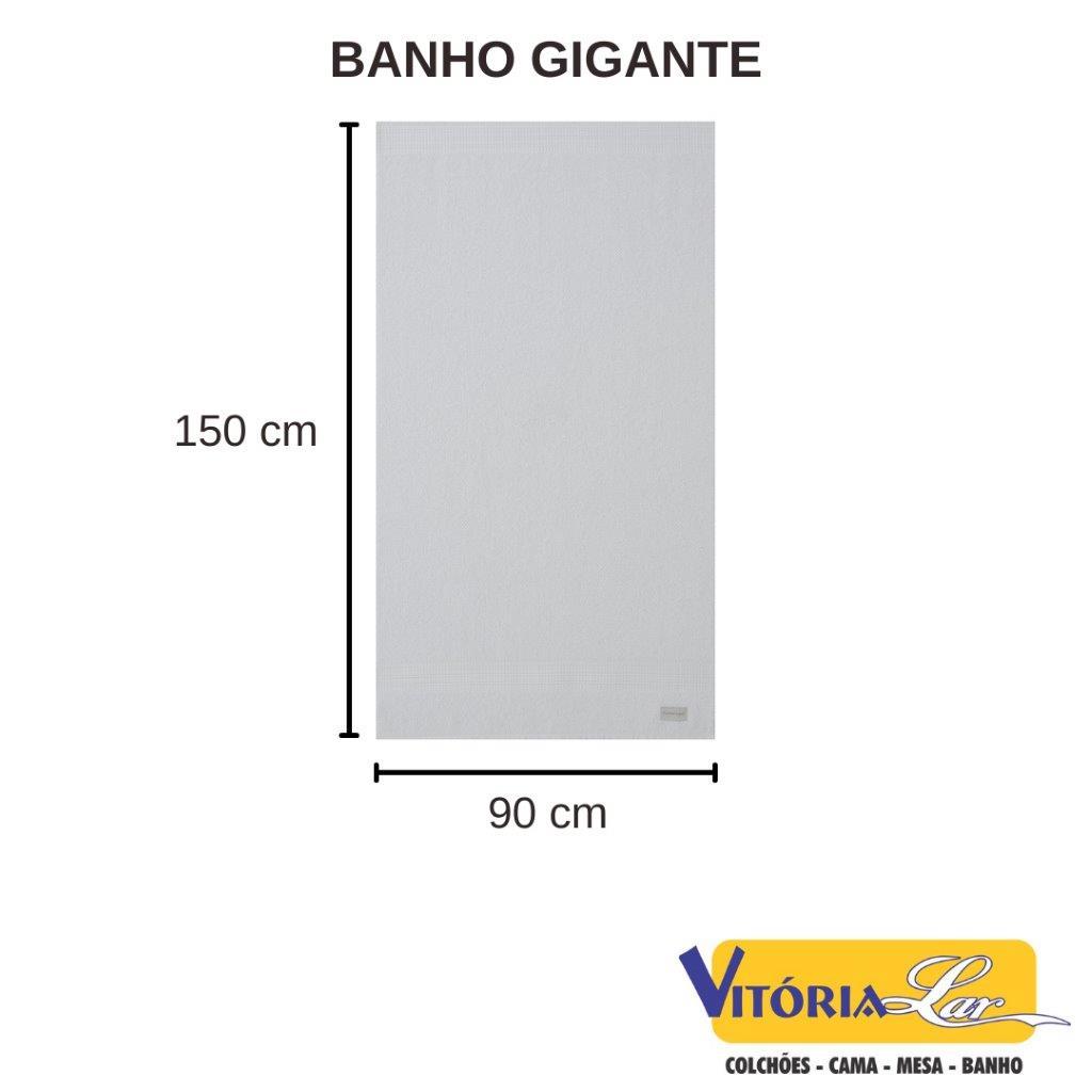 Jogo de Toalhas 4 Peças Banho Gigante + Rosto + Piso Banho Gigante Acabamento Premium Dual Air Buddemeyer