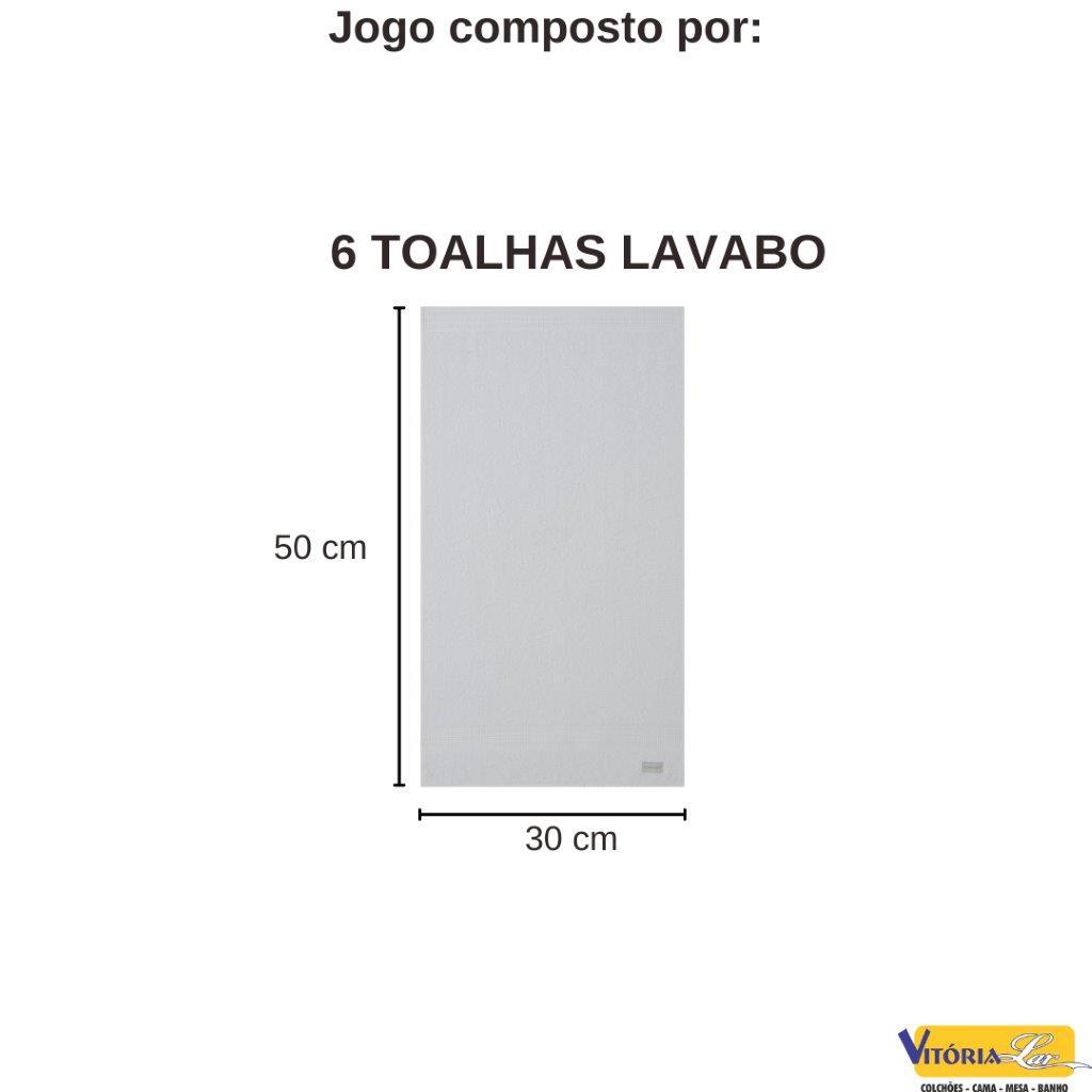 Kit Jogo de Toalhas 6 peças Lollipop Lavabo de Mão Buddemeyer Ultra Macia