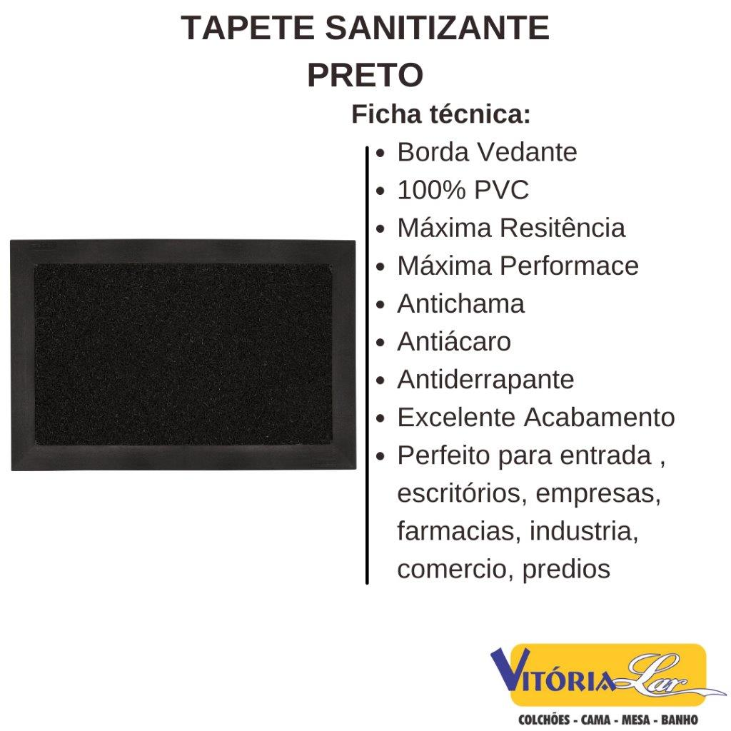 Kit 2 Tapetes Sanitizante Preto 38 x 58 cm Kapazi Capacho Higienizador