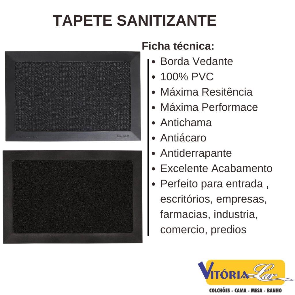 Kit Tapete Sanitizante 1PRETO + 1MAX Capacho Pedilúvio