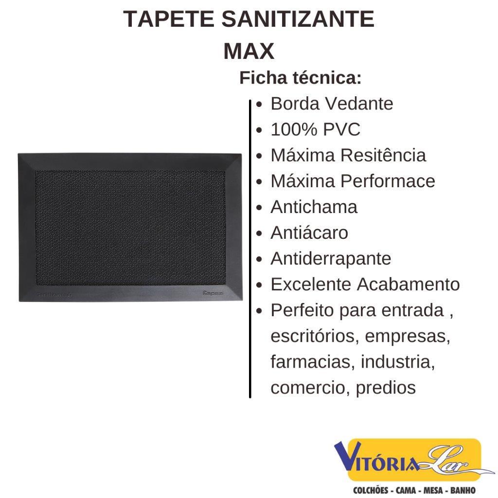 Kit 2 Tapetes Sanitizantes Max 38 x 58 cm Kapazi Higienizador