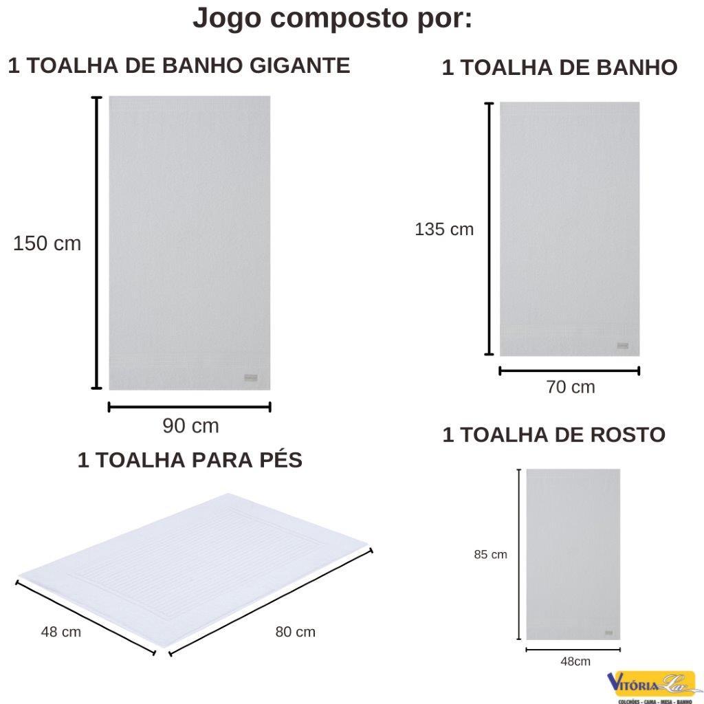 Kit de Toalhas 4 peças Lollipop Banho + Banho Gigante Rosto e Piso Buddemeyer Boa Absorção