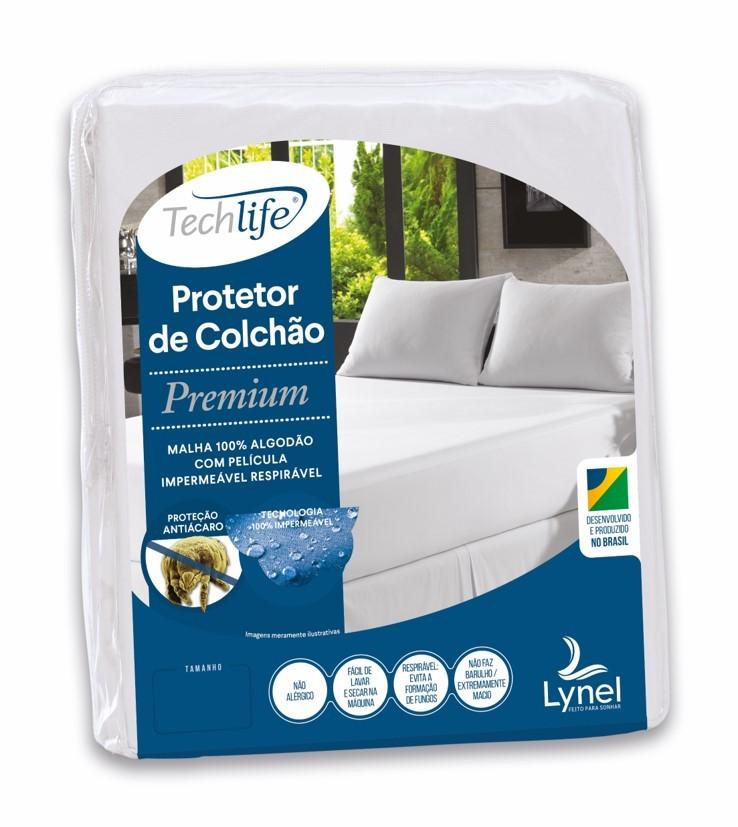 Kit Protetor Premium Casal + 2 Protetores de Travesseiro