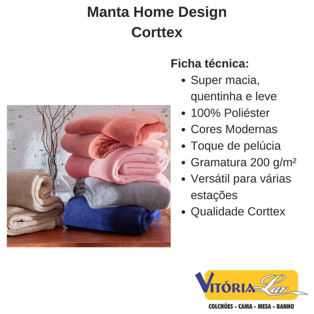Manta Microfibra Home Design Lisa 1,50 x 2,00 Solteiro