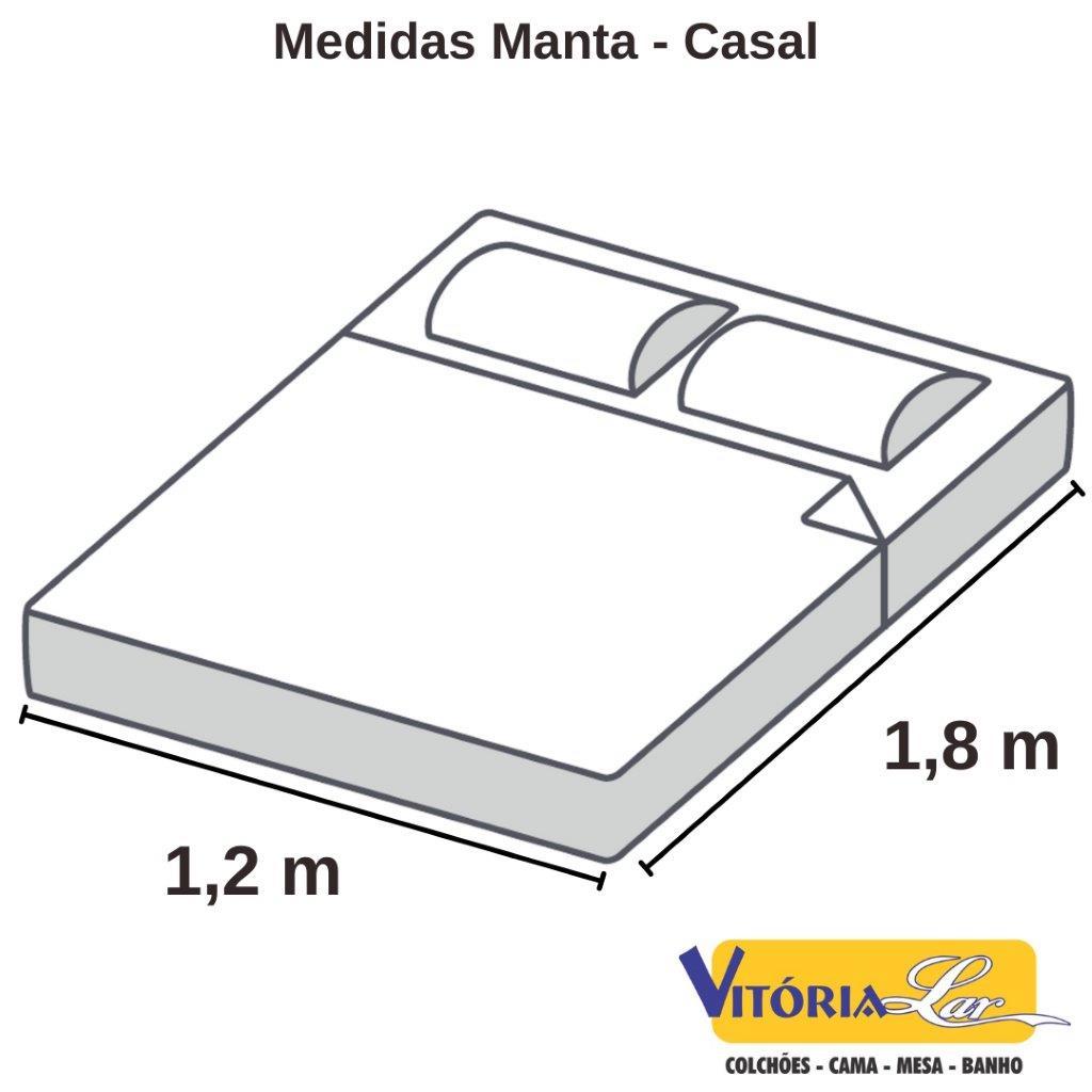 Manta Microfibra Home Design Casal Lisa Corttex