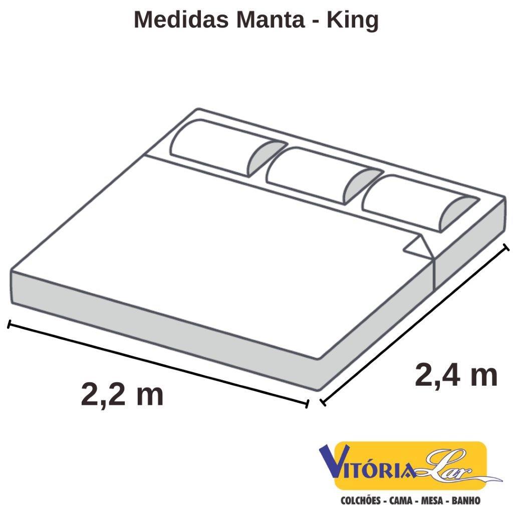 Manta Microfibra Home Design Lisa 2,20 x 2,40 King
