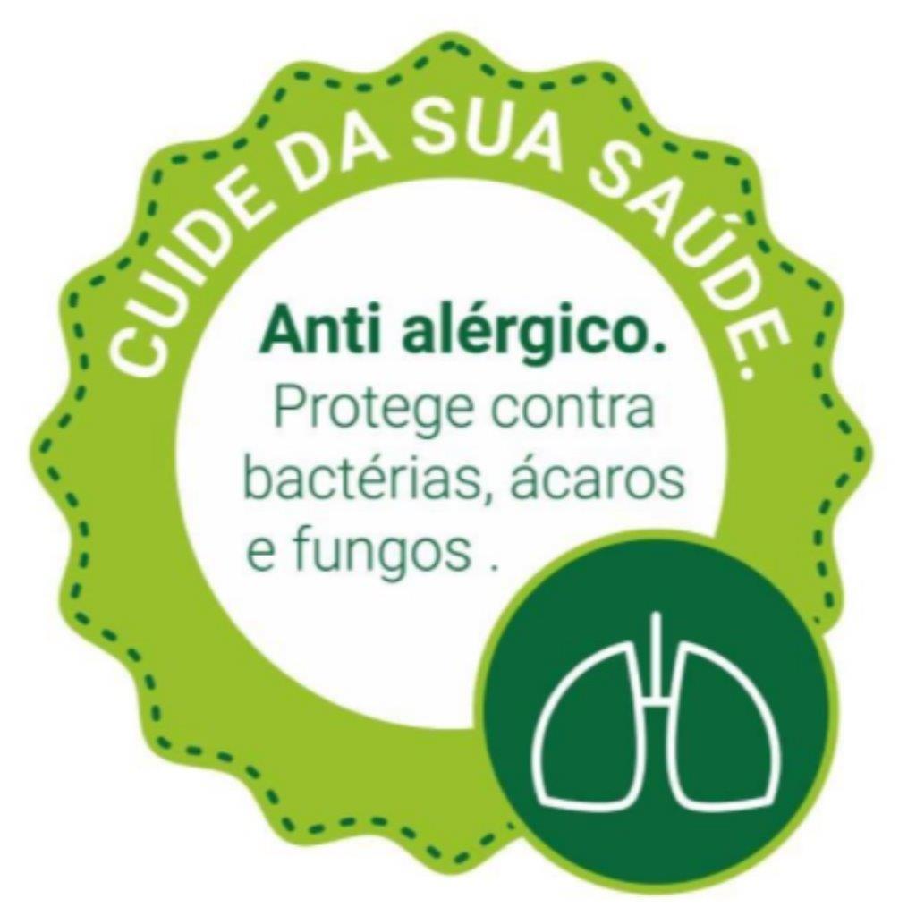 Protetor de Colchão Casal Malha Antialérgico Kacyumara 100% Impermeável Antiácaro