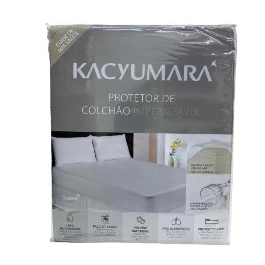 Protetor de Colchão Solteiro Malha Antialérgico - Kacyumara