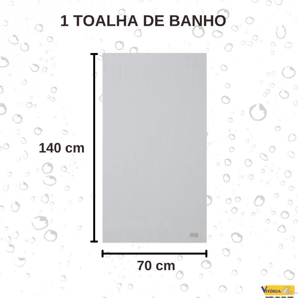Toalha Brent Banho Corttex com Barra Decorada Super Macia