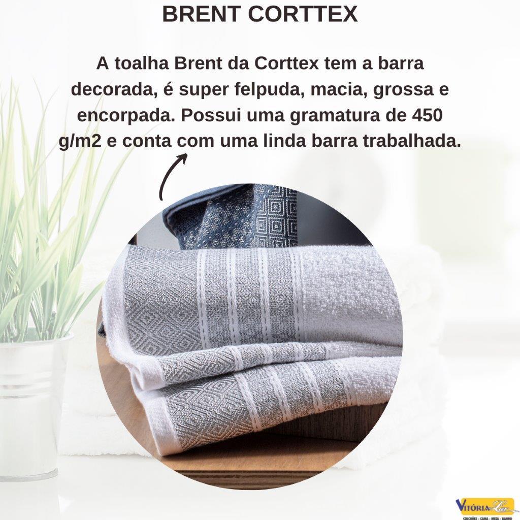 Toalha Brent Rosto Corttex Encorpada 100% Algodão Toque Macio e Delicado