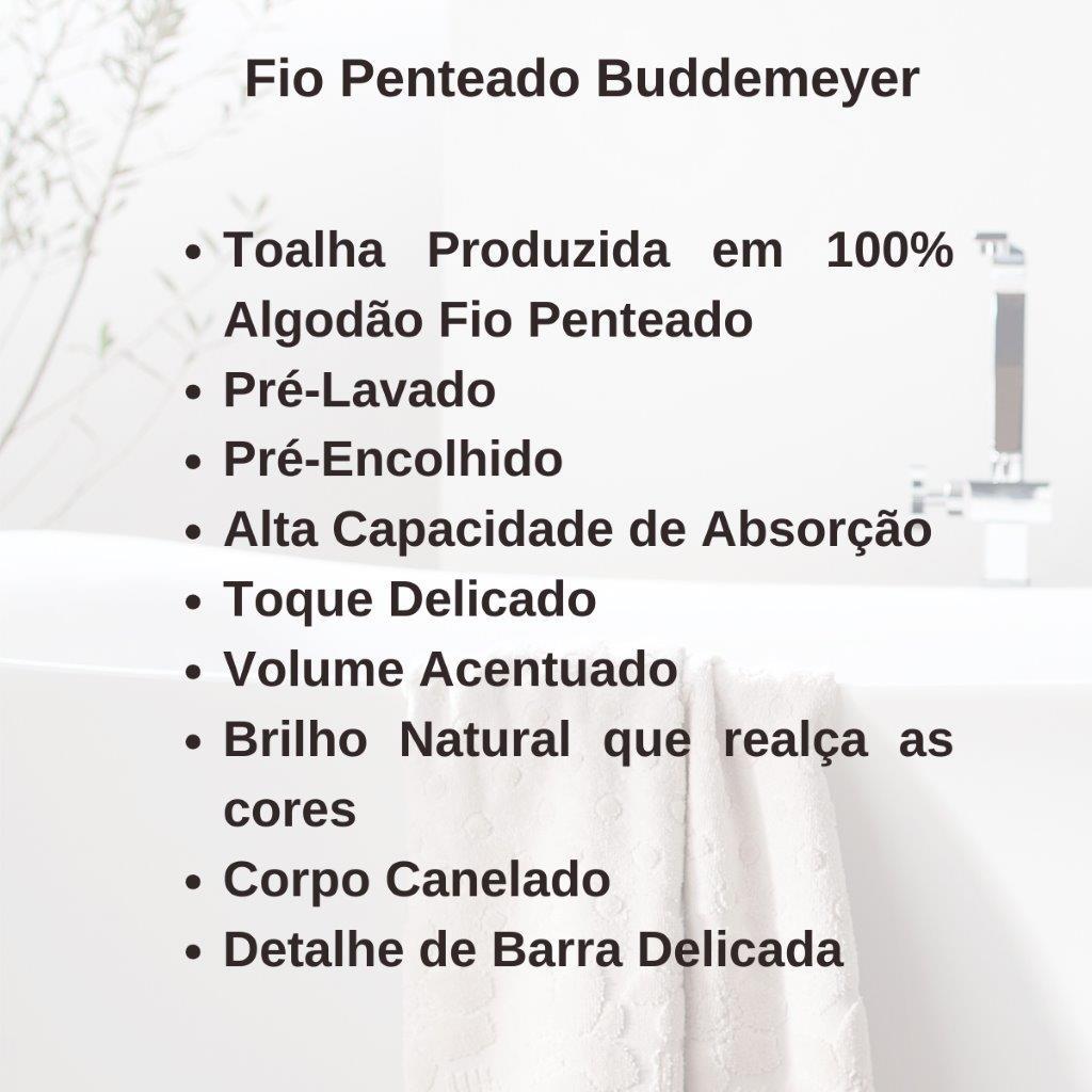 Toalha Fio Penteado Banho Buddemeyer 100% Algodão Canelado Avulsa Boa Absorção