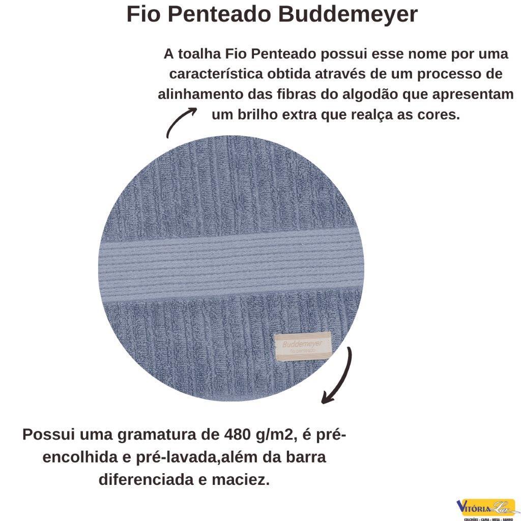 Toalha Fio Penteado Canelado Rosto Buddemeyer 100% Algodão Reforçada Boa Absorção