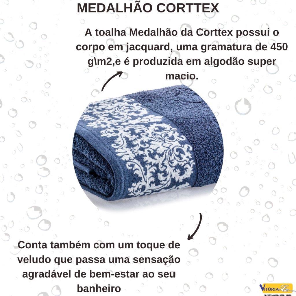Toalha Medalhão Banho Corttex Avulsa 100% Algodão