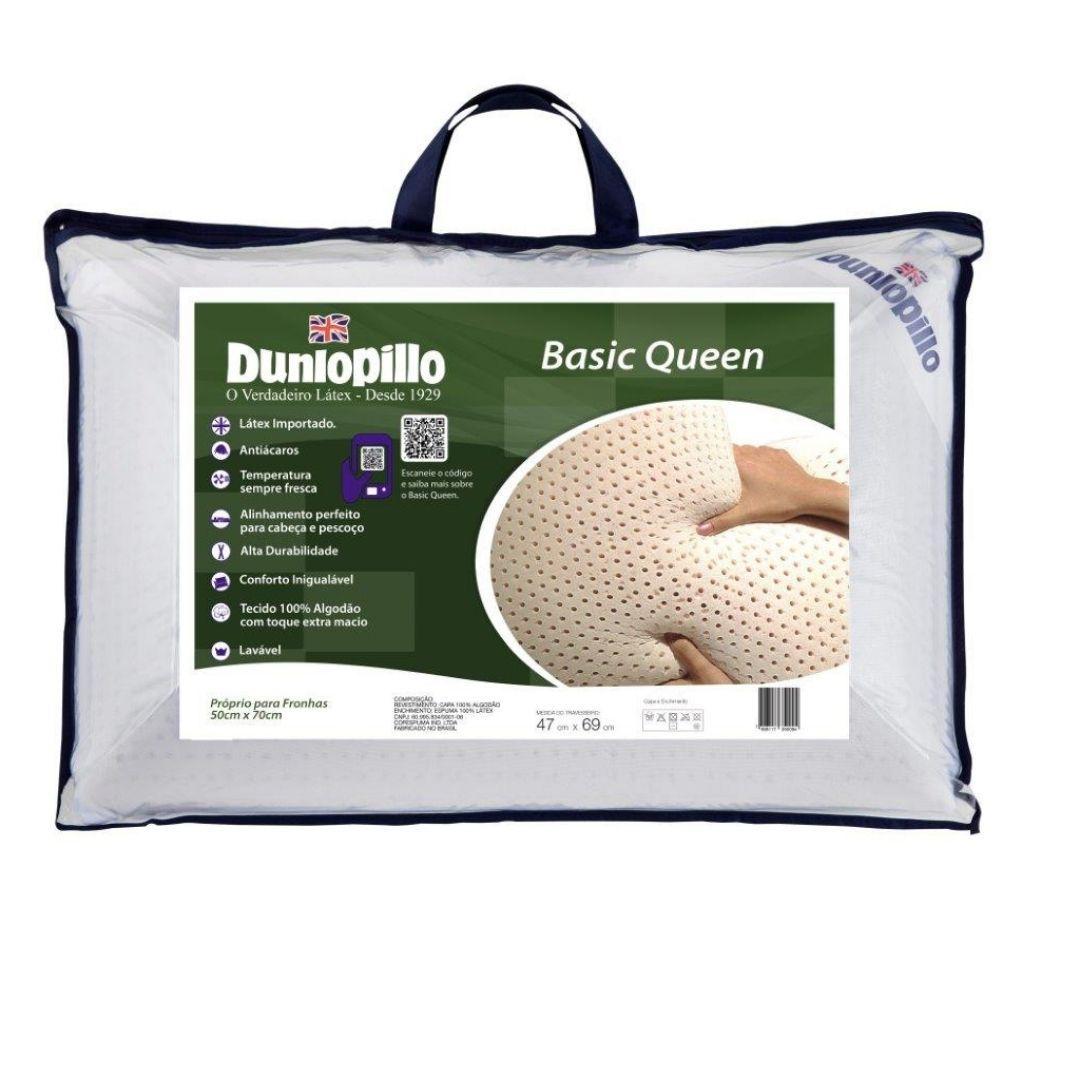 Travesseiro Basic Queen 50x70cm 100% Látex Natural Dunlopillo