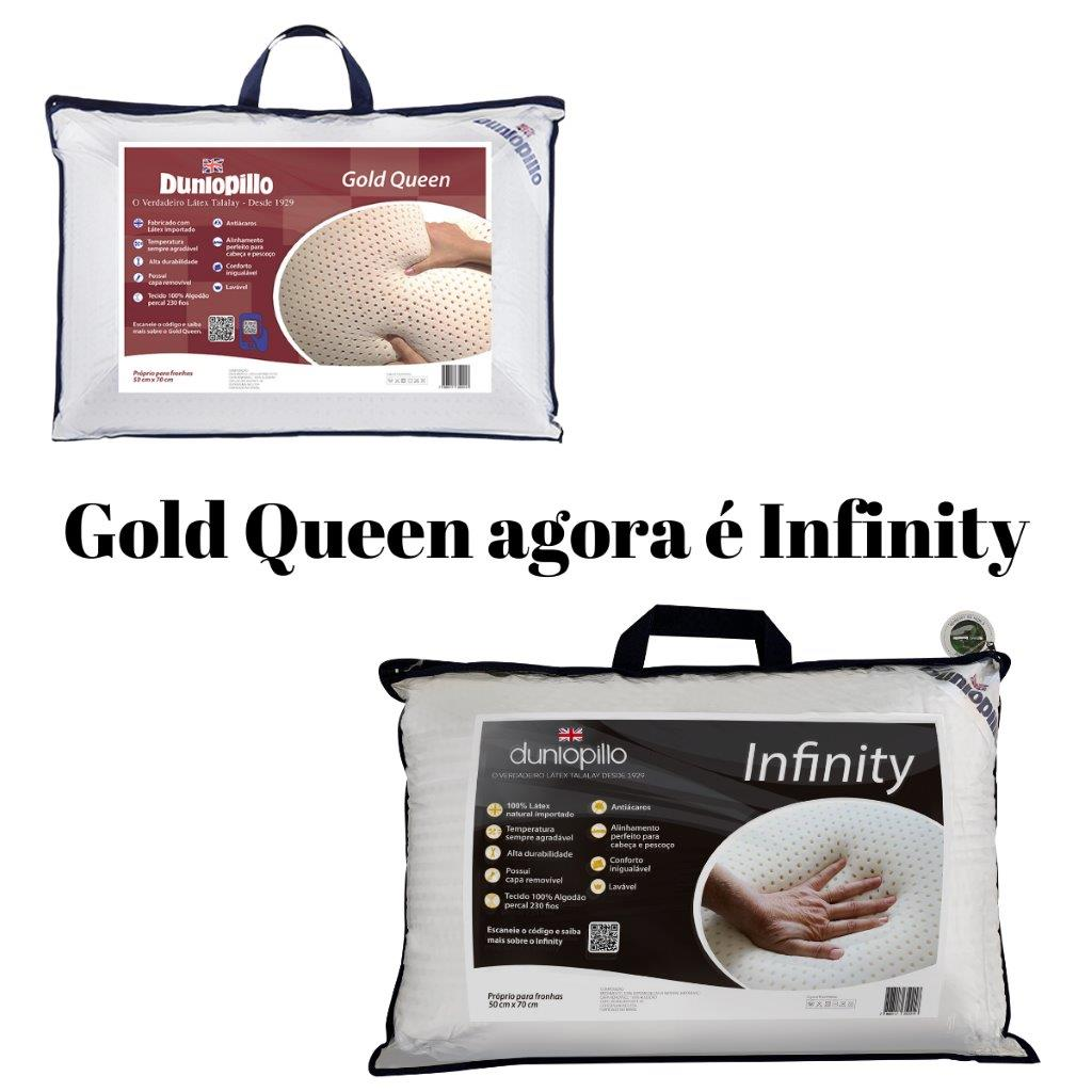 Travesseiro Infinity 50x70cm 100% Látex Natural Dunlopillo