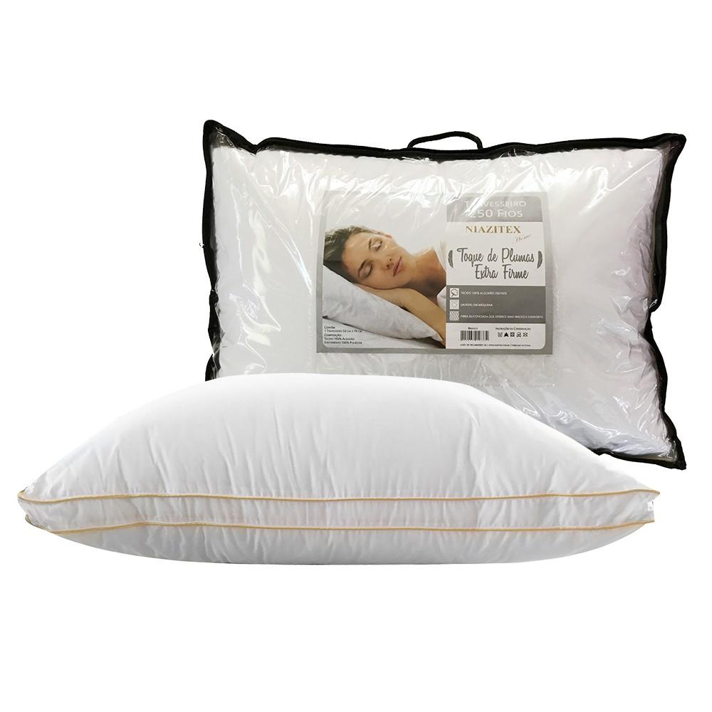 Travesseiro Toque de Pluma 0.50x0.70 ExtraFirme - Niazitex