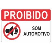 PLACA DE SEGURANÇA PS 1.0 MM 30X20 PROIBIDO SOM AUTOMOTIVO