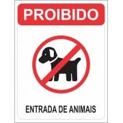 PLACA INFORMATIVA PS 1.0 MM 15X20 PROIBIDA ENTRADA DE ANIMAIS