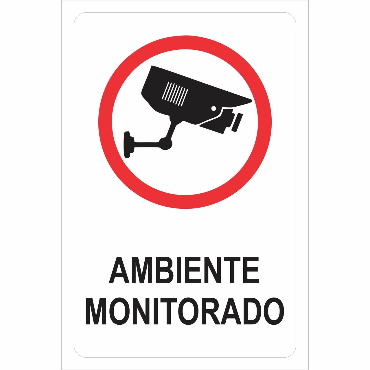 PLACA 20X30 AMBIENTE MONITORADO