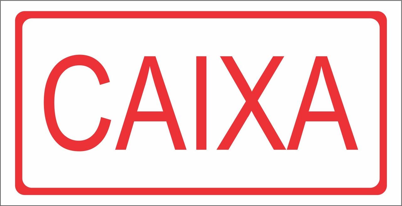 PLACA INFORMATIVA PS 1.0 MM 30X15 CAIXA