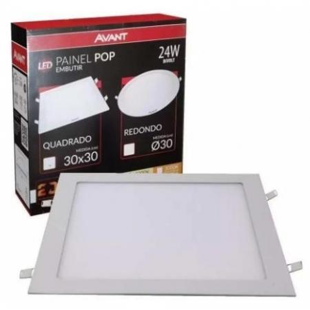 PAINEL AVANT LED POP 24W QUAD 30X30