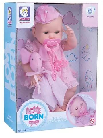 BONECA COTIPLAS LOVE BORN HORA NANINHA 2380