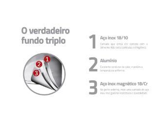 CALDEIRAO TRAMONTINA INOX SOLAR 15,4L 62125300