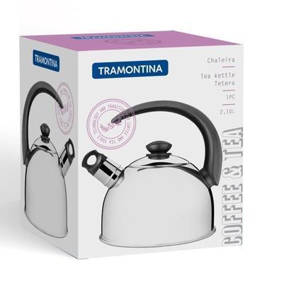 CHALEIRA TRAMONTINA INOX 2,1L APITO 61483013