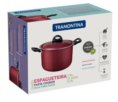 ESPAGUETEIRA TRAMONTINA LORETO 5,7L VERM 27817025