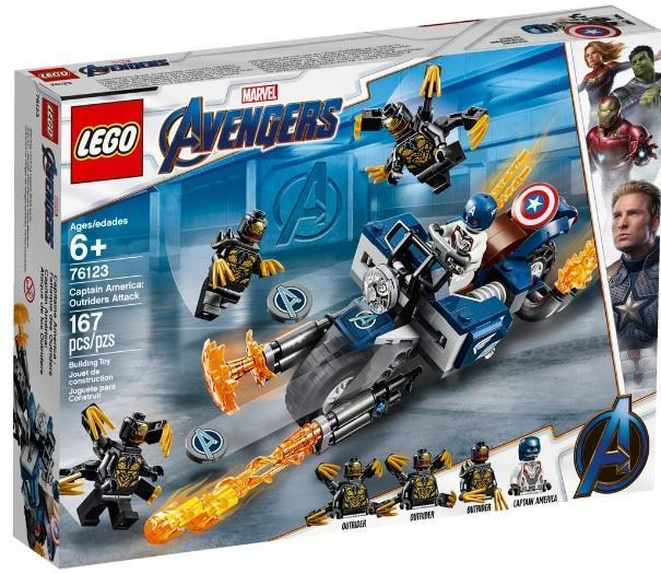 LEGO AVENGERS 167PCS CAPITAIN AMERICA 76123