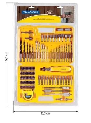 MALETA BROCAS/PONTEIRA TRAMONTINA 110PCS 43145110
