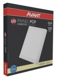 PAINEL AVANT LED POP 30W QUAD 40X40