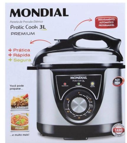 PANELA PRESSAO MONDIAL 3L ELETRICA PE-26