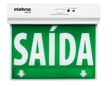 PLACA SINALIZACAO EMERG INTELBRAS PSA125