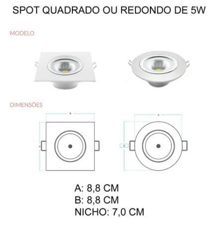 SPOT AVANT LED SUPIMPA 5W QUAD BCA