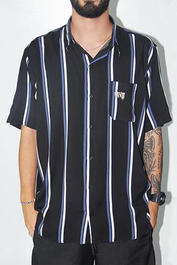 Button Up Shirt Tec Lines Preta