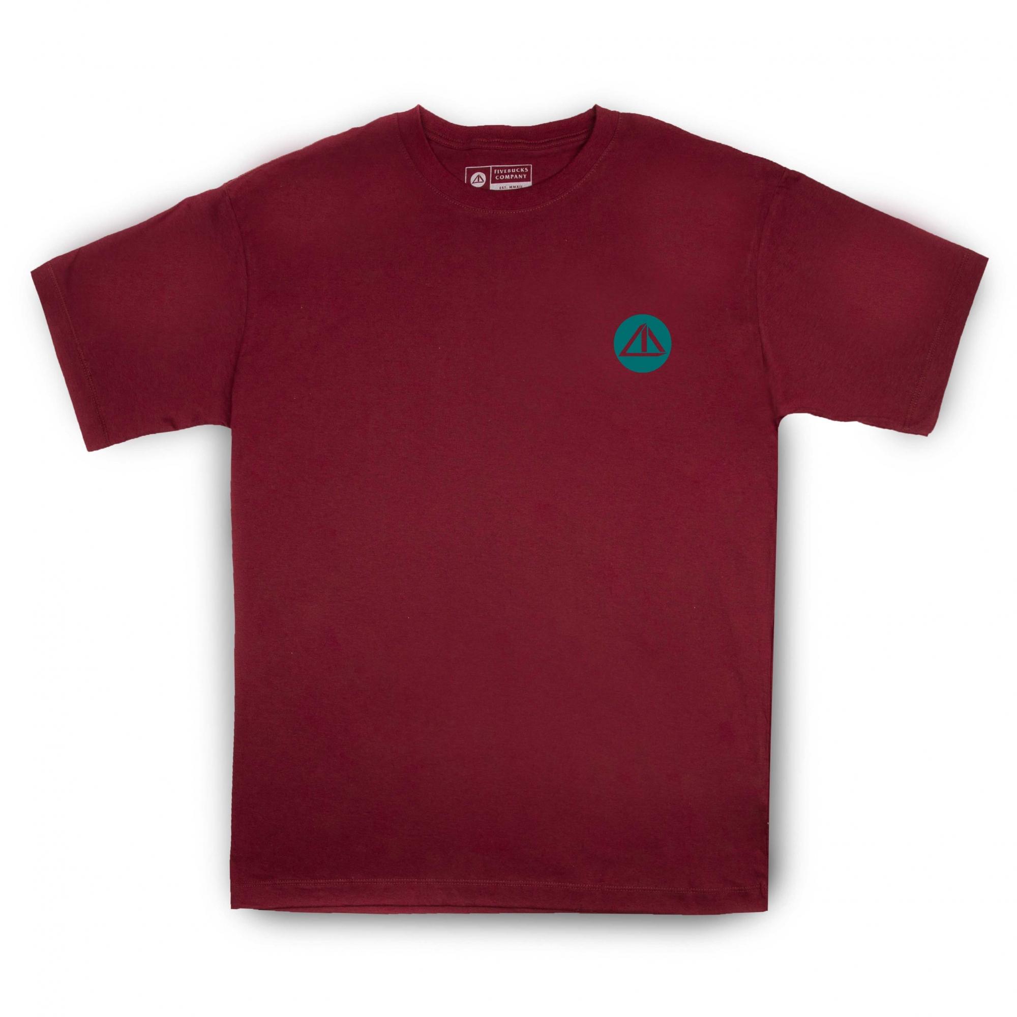 Camiseta Five Mini Logo Bordô