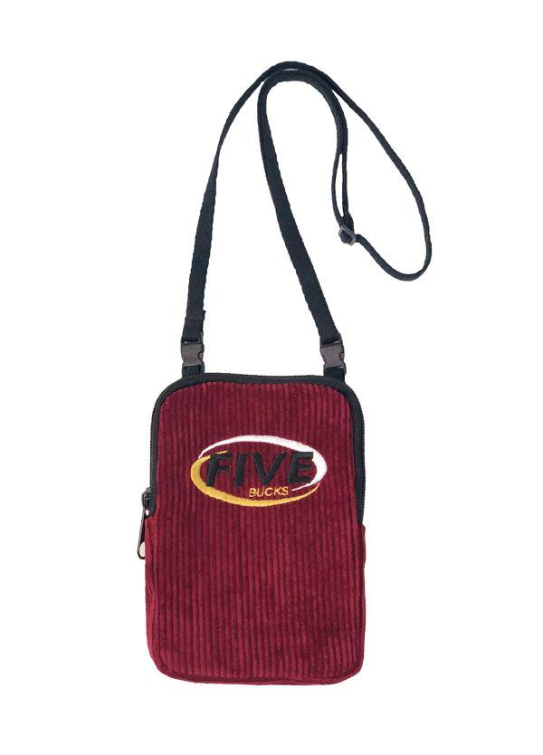 Fivebucks Bag Trip Cotelê Wine