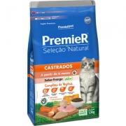 Alimento seco Premier Seleção Natural Frango para Gatos Castrados