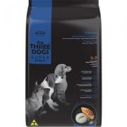 Alimento seco Three Dogs Super Premium Frango e Arroz para Cães Filhotes Raças Médias e Grandes