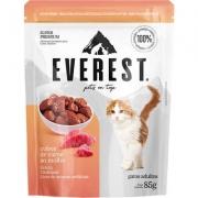 Alimento Úmido Everest Cubos de Carne ao Molho para Gatos