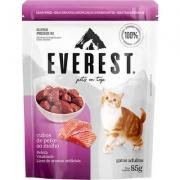 Alimento Úmido Everest Cubos de Peixe ao Molho para Gatos