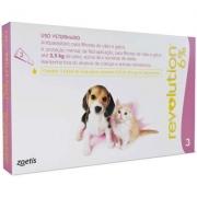 Antipulgas e Carrapatos Revolution 6% para Cães e Gatos até 2,5 kg 15 mg -Zoetis