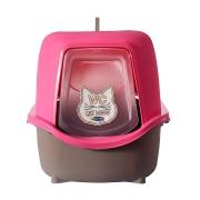 Banheiro para Gatos Cat Box New Rosa -Plast Pet