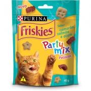 Petisco Friskies Party Mix Camarão, Salmão e Atum para Gatos Adultos -Purina